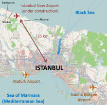 Istanbul airport locations