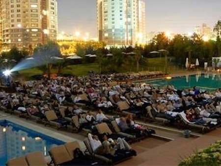 An Outdoor Cinema, Perfect way to Relax After Time Spent Looking at Istanbul Property