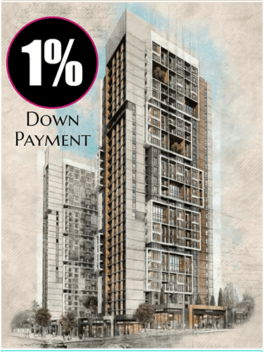 1% Down Payment Apartments in Basin Ekspres
