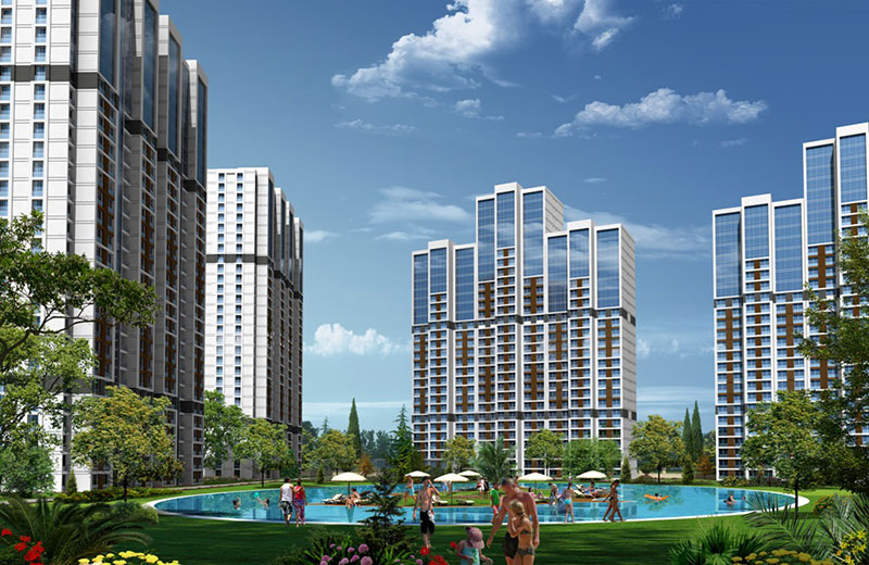 Low price, title deed ready apartments for Sale in Bahcesehir Istanbul