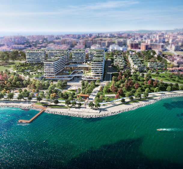 Pre-launch Sea View Luxury Apartments coastline Mimaroba Istanbul