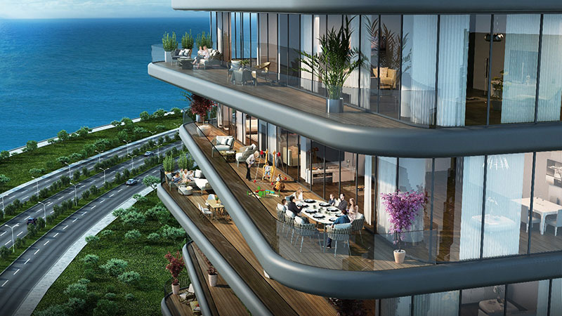 Luxury sea view residences for sale in Istanbul 6