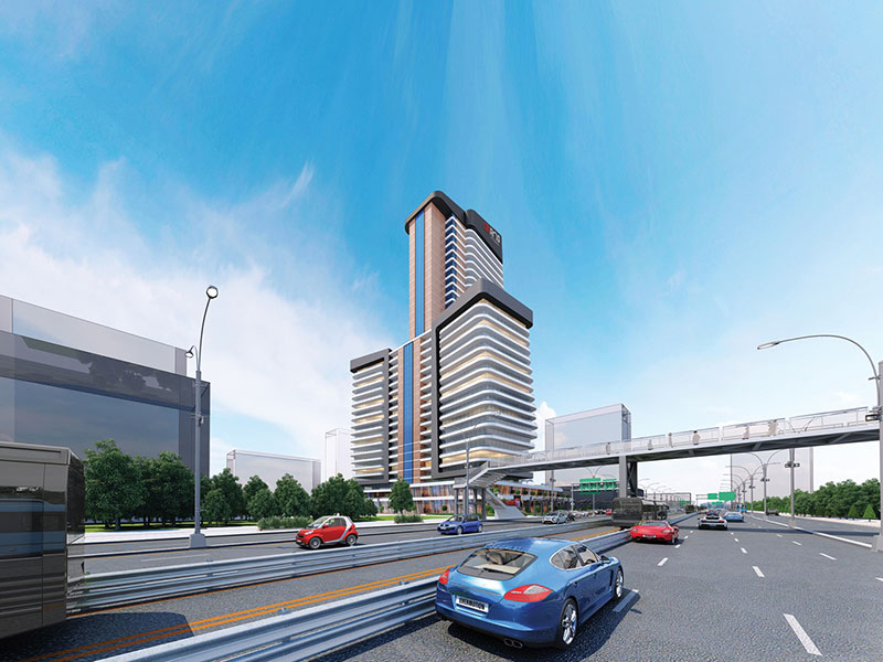 The project has a mixed conceptual structure comprised of 3 blocks and a commercial area in Beylikduzu