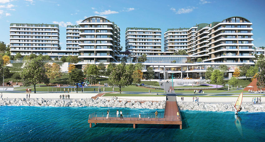 Sea view luxury apartments in Mimaroba, Istanbul, Turkey