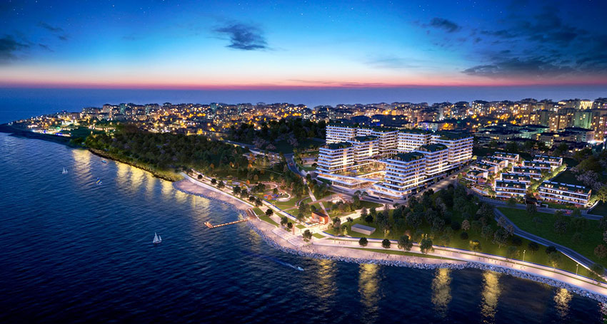Sea view luxury apartments in Mimaroba, Istanbul