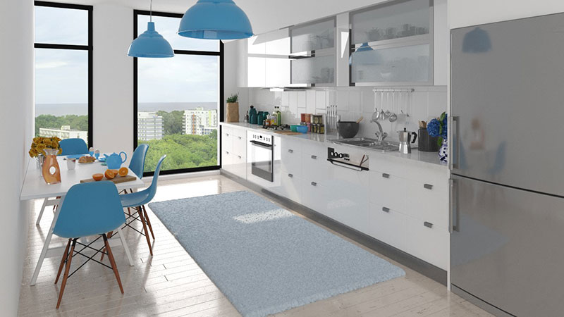 Kitchen with view