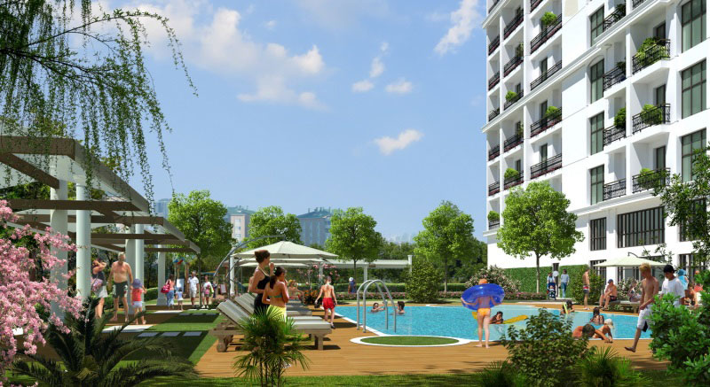 Aparments For Sale in Istanbul Beylikduzu just by the Urban Park Area 7