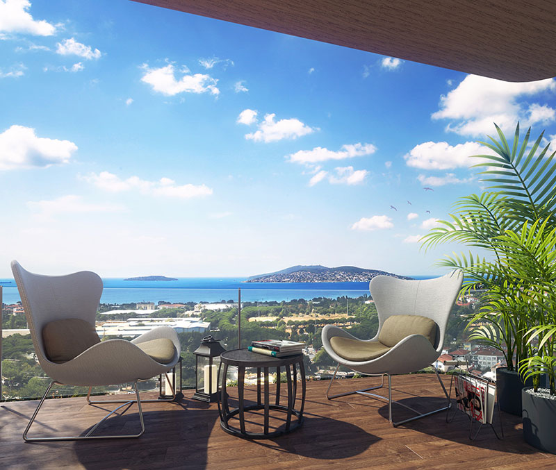 High Quality apartments for sale in Dragos with a sea view 1